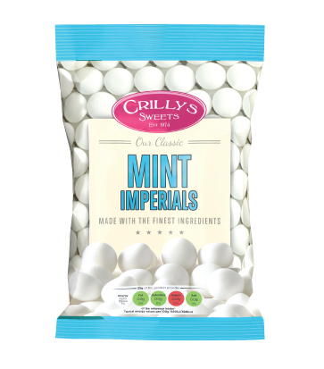 Crilly's Sweets Mint Imperials Confectionery Bag Packaging