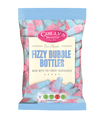 Crilly's Sweets Fizzy Bubble Bottles Confectionery Bag Packaging
