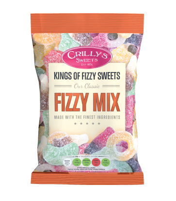 Crilly's Sweets Fizzy Mix Confectionery Bag Packaging