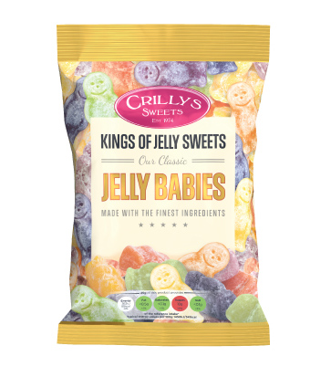 Crilly's Sweets Jelly Babies Confectionery Bag Packaging