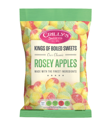 Crilly's Sweets Rosey Apples Confectionery Bag Packaging