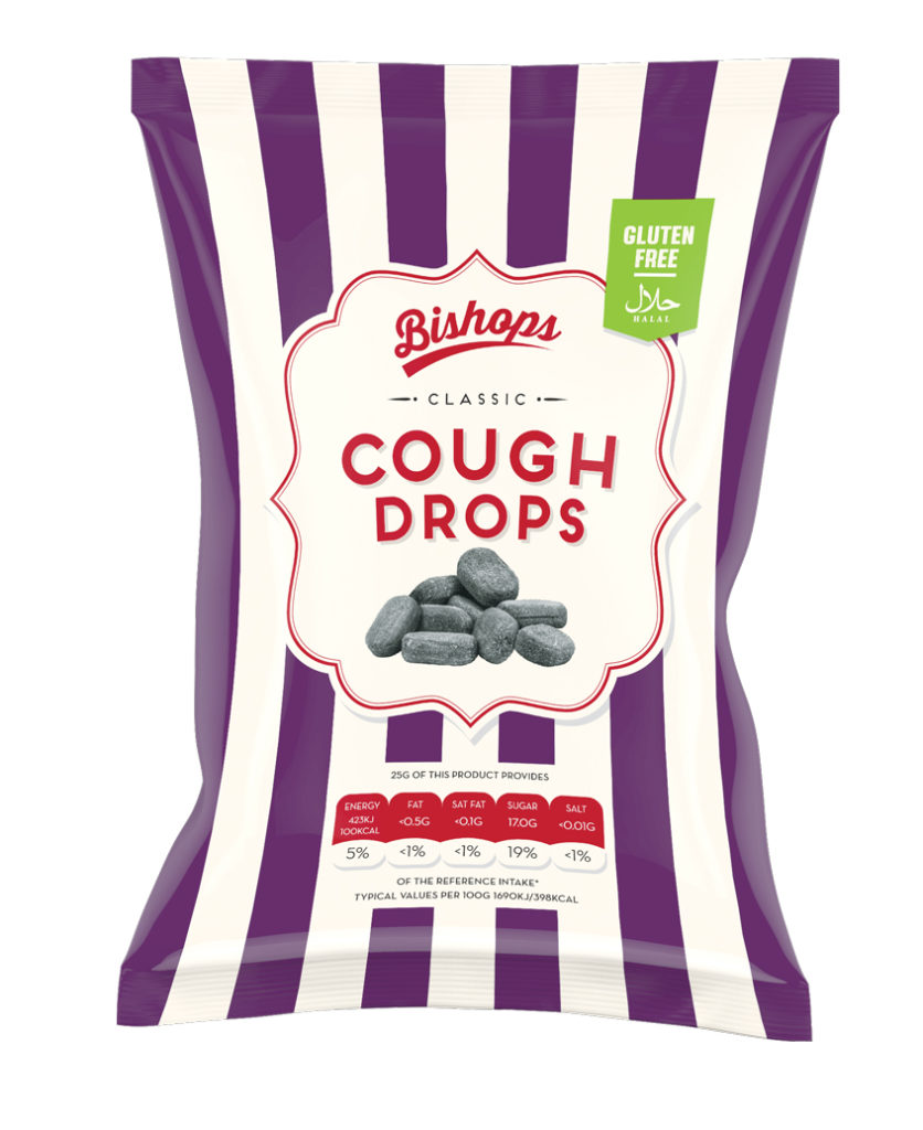 Crilly's Bishops Sweets Cough Drops Confectionery Bag Packaging