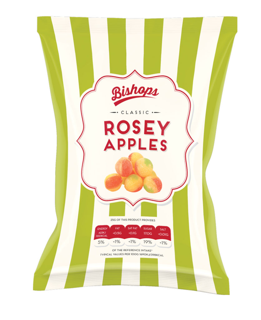 Crilly's Bishops Sweets Rosary Apples Confectionery Bag Packaging