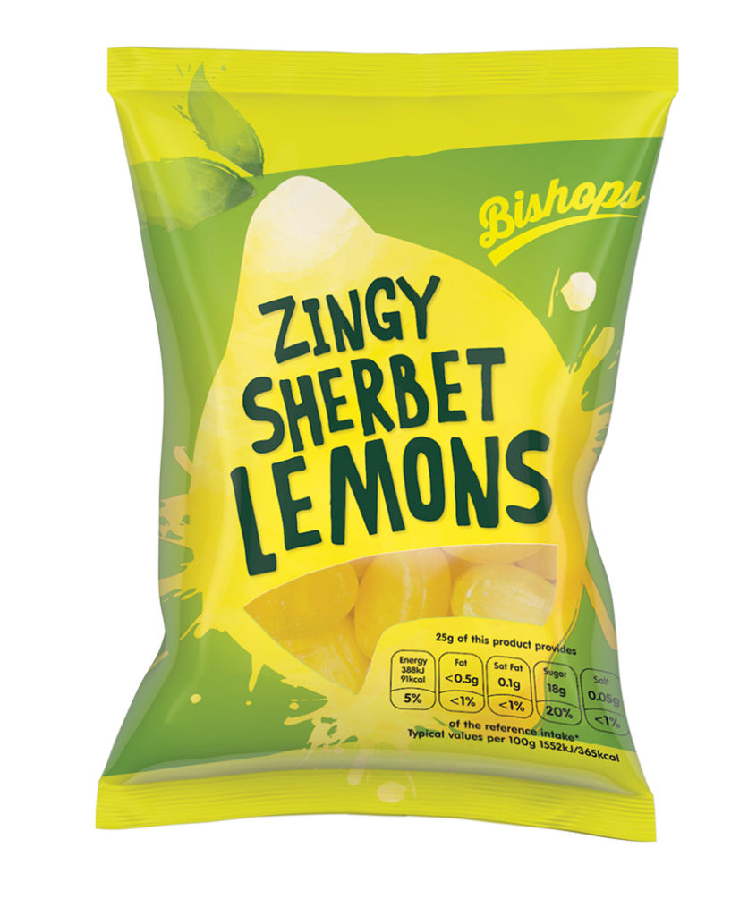 Crilly's Bishops Sweets Sherbet Lemons Confectionery Bag Packaging
