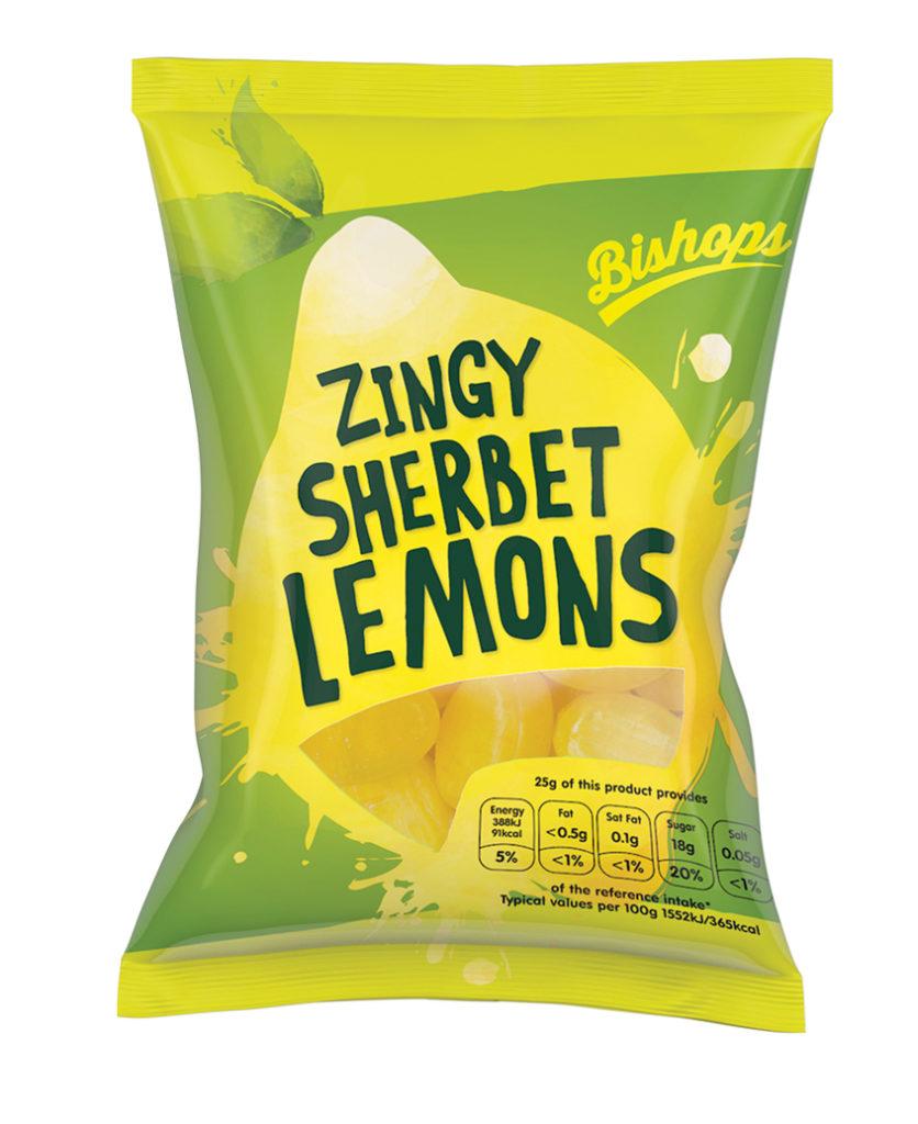 Crilly's Bishops Sweets Sherbet Lemons Confectionery Bag Packaging