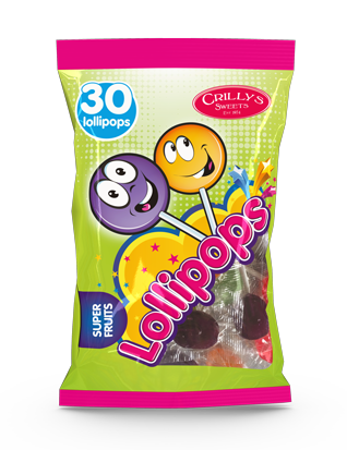 Crilly's Sweets Lollipops Confectionery Bag Packaging