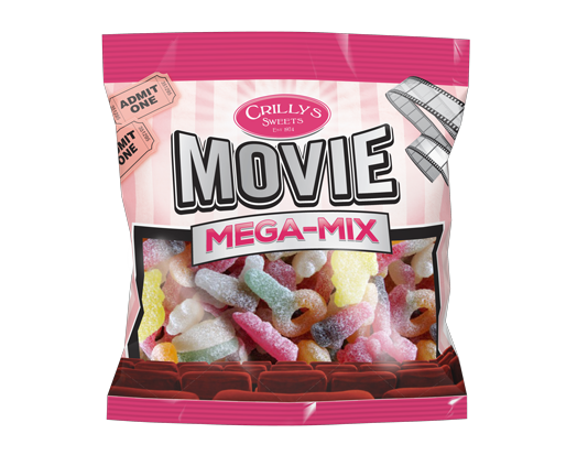 Crilly's Sweets Movie Mega Mix Confectionery Bag Packaging