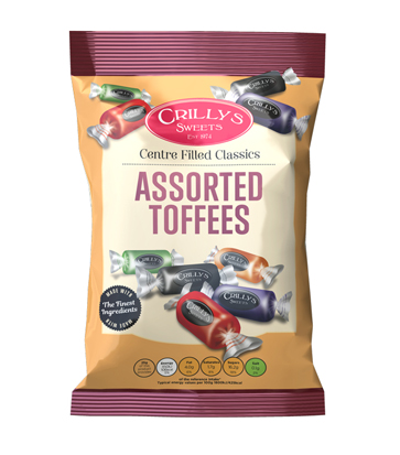 Crilly's Sweets Assorted Toffees Confectionery Bag Packaging