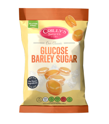 Crilly's Sweets Glucose Barley Sugar Confectionery Bag Packaging