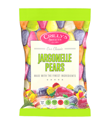 Crilly's Sweets Jargonelle Pears Confectionery Bag Packaging