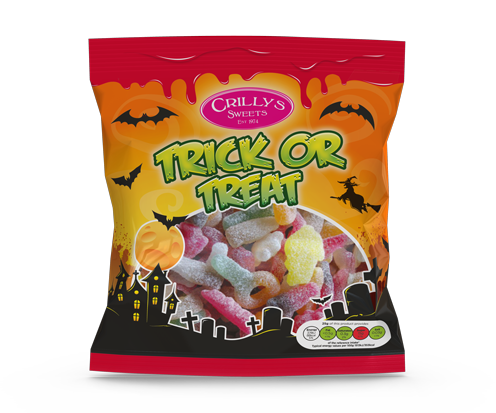 Crilly's Sweets Trick or Treat Confectionery Bag Packaging