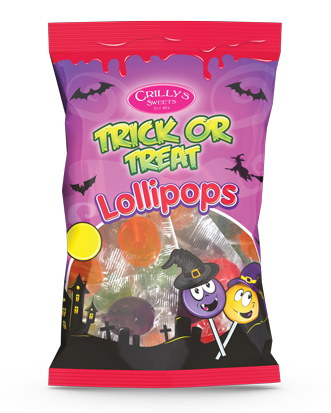 Crilly's Sweets Trick or Treat Lollipops Confectionery Bag Packaging